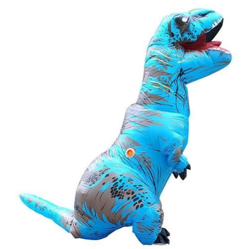 Aufblasbare Fatsuit Dinosaurier Kostüm Erwachsene T-Rex Jurassic Welt Cosplay Kostüm BLAU
