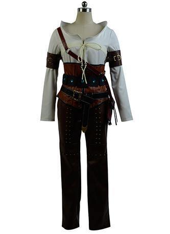 The Witcher 3 Wild Hunt Ciri Cirilla Fiona Elen Cosplay Kostüm