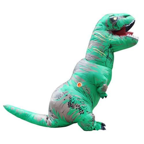 Aufblasbare Fatsuit Dinosaurier Kostüm Erwachsene T-Rex Jurassic Welt Cosplay Kostüm GRÜN