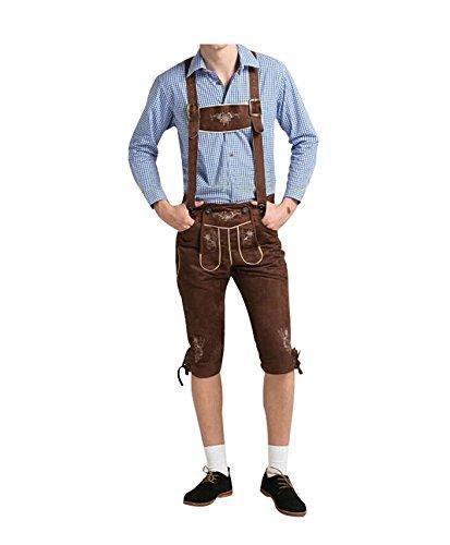 Bayerische Trachtenhose Herren Trachten Hose mit Trägern Oktoberfest Größe 48, 50, 52, 54, 56