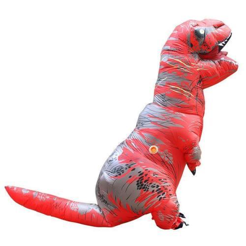 Aufblasbare Fatsuit Dinosaurier Kostüm Erwachsene T-Rex Jurassic Welt Cosplay Kostüm ROT