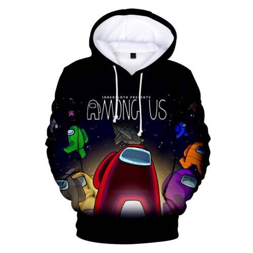 Spiel Among Us Cosplay Hoodie Erwachsene Hooded Sweatshirt Pullover mit Kaputze Pulli