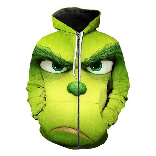 The Grinch Der Grinch Jacke Sweatshirt Pullover mit Kaputze für Erwachsene