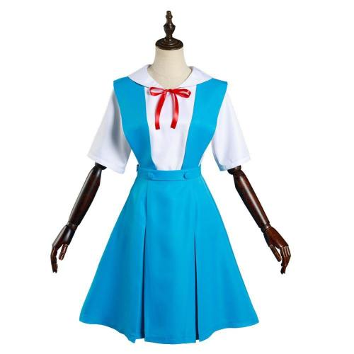 Neon Genesis Evangelion EVA Asuka Langley Soryu/Ayanami Rei Cosplay Kostüm Schuluniform Halloween Karneval Outfits