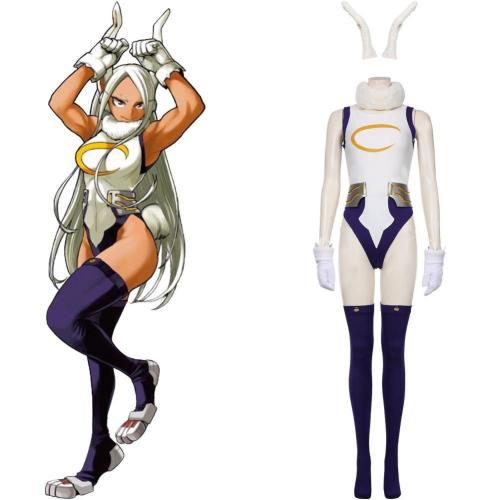 My hero Academic Cosplay Hase Jumpsuit da Coniglio Kostüm Miruko Cosplay Kostüm Jumpsuit