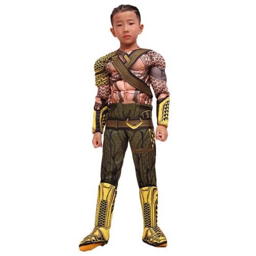 2018 Aquaman Comicverfilmung Arthur Curry Cosplay Kostüm Jumpsuit für Kinder Junge