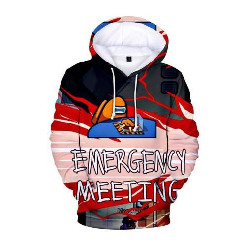Among Us Pullover mit Kaputze Cosplay Hoodie Erwachsene Hooded Sweatshirt Pullover