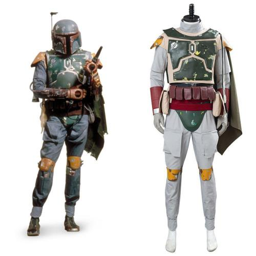 Star Wars Boba Fett Kopfgeldjäger Uniform Cosplay Kostüm Outfits Halloween Karnval Kostüm