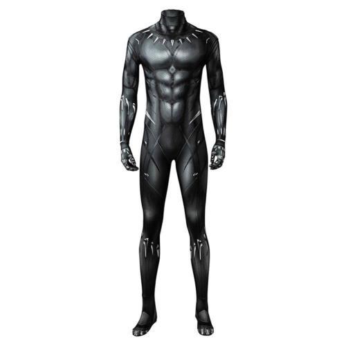 Marvel 2018 Black Panther T'Challa Junpsuit Full Set Cosplay Kostüm