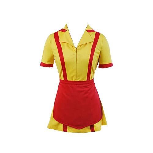2 Broke Girls Max Caroline Kellnerinnen Uniform Kleid Cosplay Kostüm Karnival für Party Mottoparty