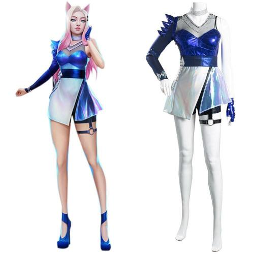 League of Legends LOL KDA Ahri Cosplay Kostüm Damen Kleid Outfits Halloween Karneval Kostüm