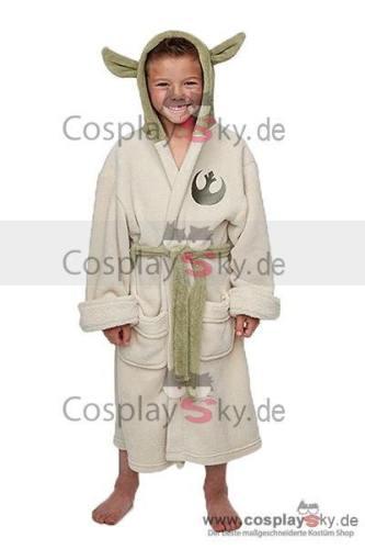 Star Wars Yoda Jedi Öhre Fleece Badenmantel Jugendliche Kind Robe