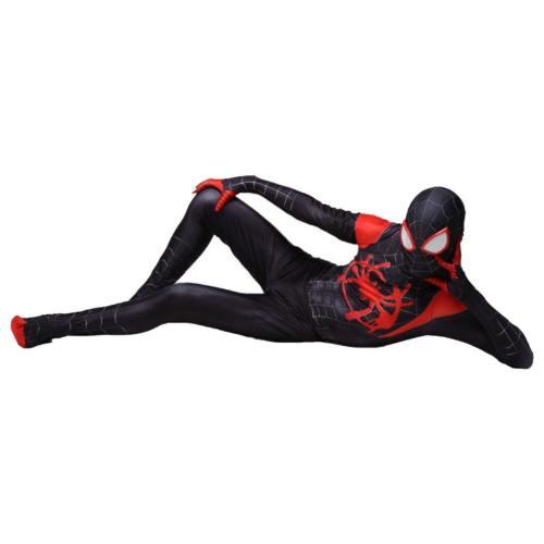 Miles Morales Spider-Man: Into the Spider-Verse Spider-Man: A New Universe Jumpsuit Cosplay Kostüm für Erwachsene