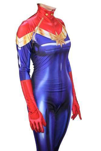 Captain Marvel Superhero Carol Danvers Jumpsuit Cosplay Kostüm