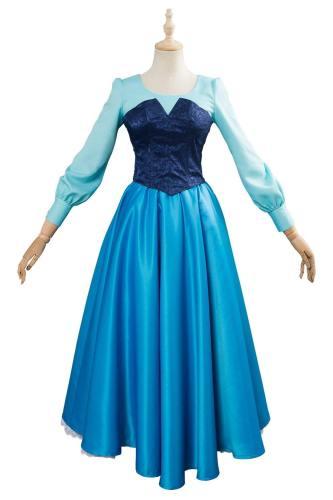 The Little Mermaid Arielle die Meerjungfrau Kleid Cosplay Kostüm Blau Kleid