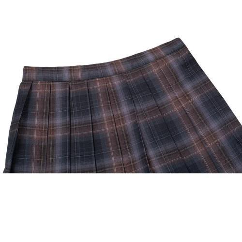 JK Schule Mädchen Japanische Schuluniform Faltenrock Gitter Mini Röcke