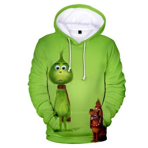 The Grinch Der Grinch Hoodie Sweatshirt Pullover mit Kaputze Pulli für Erwachsene Kinder