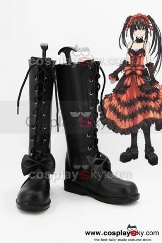 Date A Live Kurumi Tokisaki Cosplay Stiefel Schuhe