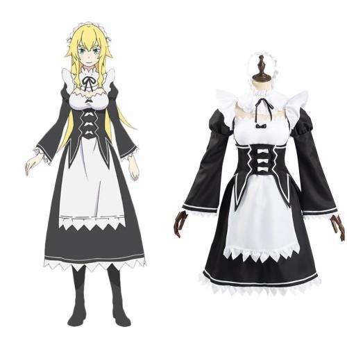 Re: Zero Emilia Camp Frederica Baumann Cosplay Dienstmädchen Uniform Halloween Kanreval Kostüm