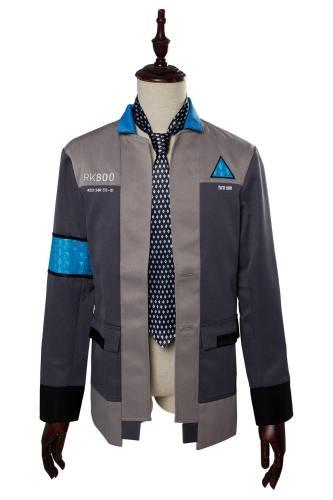 Detroit: Become Human Connor RK800 Deviant Hunter Agent Uniform Top Cosplay Kostüm