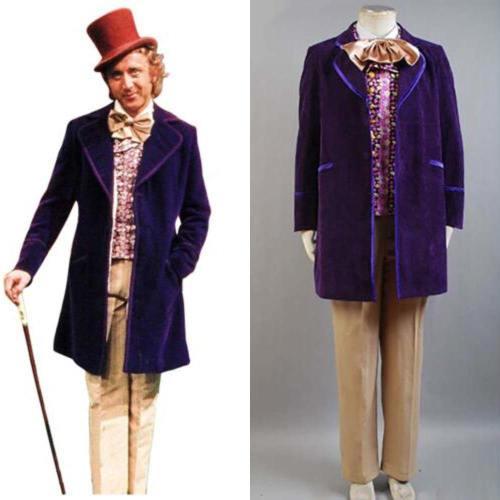 Charlie und die Schokoladenfabrik Willy Wonka Kostüm Cosplay Halloween Karneval Kostüm