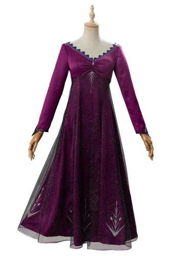 Elsa Lila Kleid Frozen 2 Die Eiskönigin 2 Völlig unverfroren Elsa Kleid Cosplay Kostüm Schlafanzug