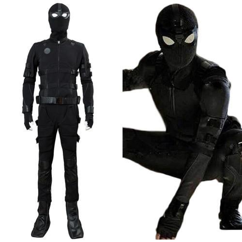 Spiderman Far From Home Spider-Man Noir Avengers Endgame Peter Parker Tom Holland Uniform Cosplay Kostüm