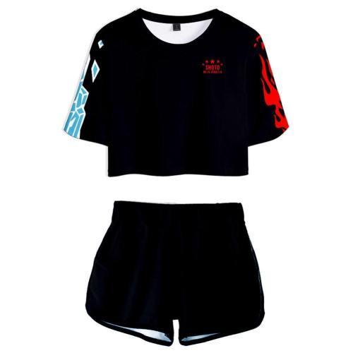 Boku no Hero Academia My Hero Academia Shoto Shouto Todoroki T-Shirt Shots Set Sommer T-Shirts Damen Oberteil Kurzarm