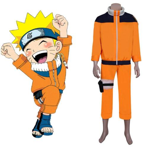 Naruto Uzumaki Cosplay Kostüm Outfits Halloween Karneval Kostüm Set