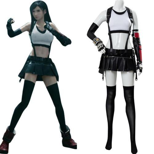 Final Fantasy VII FF7 Remake Tifa Lockhart Cosplay Kostüm Set