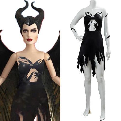 Maleficent 2 Machte der Finsternis Königin Fee Maleficent Kleid Cosplay Kostüm NEU