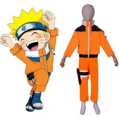 Kinder Naruto Uzumaki Cosplay Kostüm Kinder Uzumaki Halloween Karneval Outfits