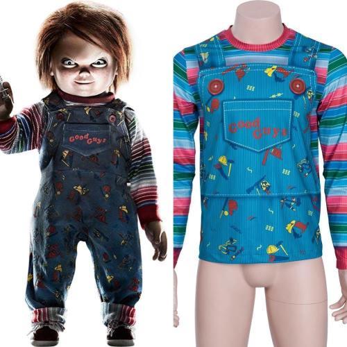 Child's Play Chucky – Die Mörderpuppe Buddi Top Tee Rundhals T-Shirt Langarm Erwachsene