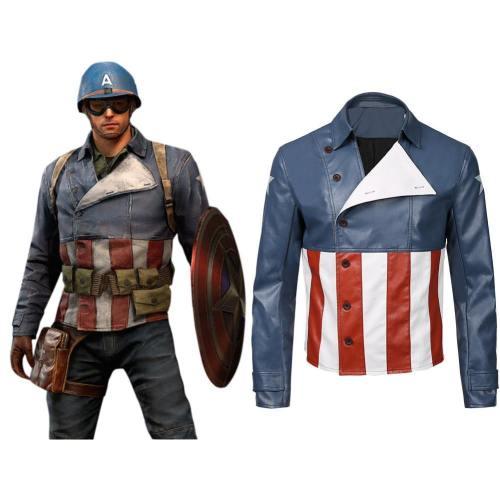 Captain America Jacke Oberteil Männer Jacke auch für Alltag