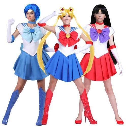 Sailor Moon Tsukino Usagi Ami Mizuno Rei Hino Kleid Cosplay Kostüm