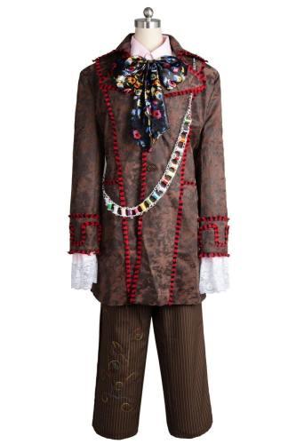 Alice In Wonderland Johnny Depp Mad Hatter 6 Stücke Full Set Cosplay Kostüm