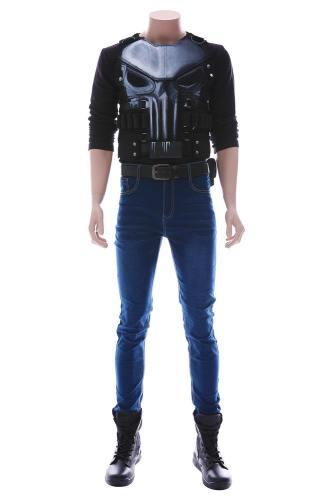 The Punisher Staffel 2 Frank Castle Pete Castiglione Cosplay Kostüm NEU