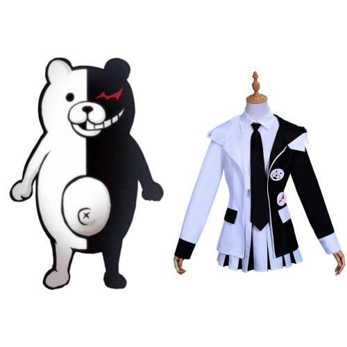 Danganronpa Monokuma Cosplay Kostüm Damen Halloween Karneval Kostüm Set