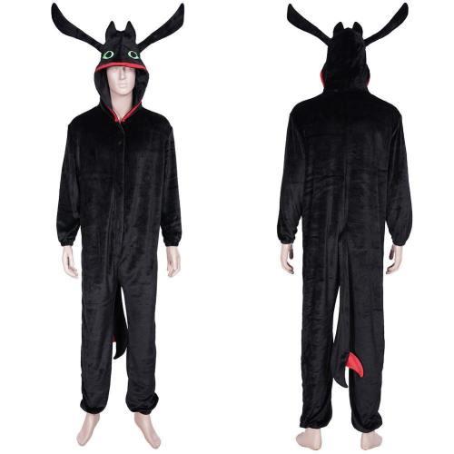 How to train your Dragon Drachenzähmen leicht gemacht Nachtschatten Schlafanzug Pyjama Cosplay Kostüme
