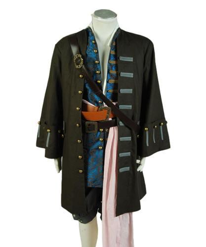 Pirates of the Caribbean 5 Fluch der Karibik Jack Sparrow Johnny Depp Set Cosplay Kostüm