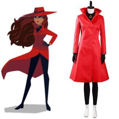 Carmen Sandiego Staffel 4 Carmen Cosplay Kostüm Halloween Karneval Outfits