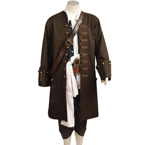 Pirates Of The Caribbean Jack Sparrow Johnny Depp Cosplay Kostüm Set
