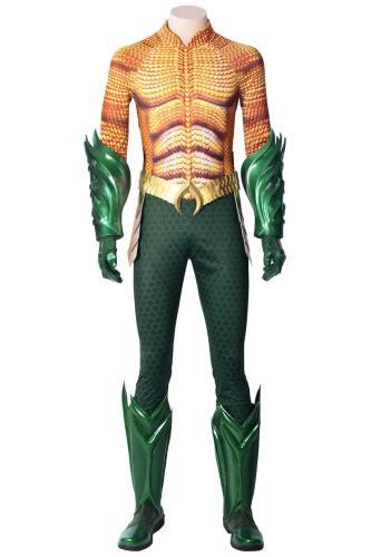 DC Film Aquaman Arthur Curry Superhero Superheld Cosplay Kostüm Delux