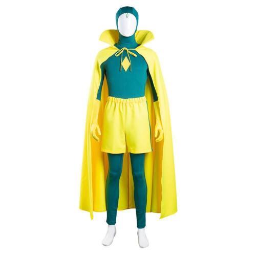 WandaVision Vision Jumpsuit Cosplay Outfits Halloween Karneval Kostüm