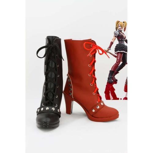 Batman Arkham Knight Harley Quinn Stiefel Cosplay Schuhe