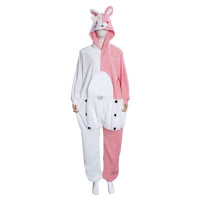 Danganronpa Dangan Ronpa Monokuma und Monomi rosa Schlafanzug Cosplay Jumpsuit Pajamas für Erwachsene