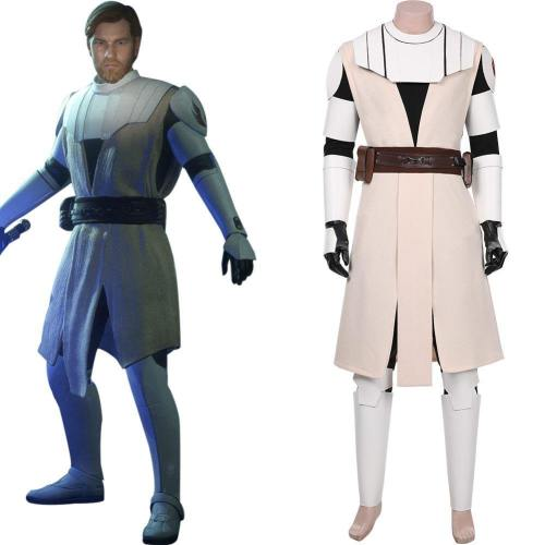 Star Wars The Clone Wars - Obi Wan Kenobi Cosplay Kostüm Outfits Halloween Karneval Kostüm