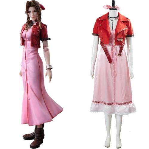 FF7 Final Fantasy VII 7 Aerith Aeris Gainsborough Kleid Cosplay Kostüm Final Fantasy 7 Remake