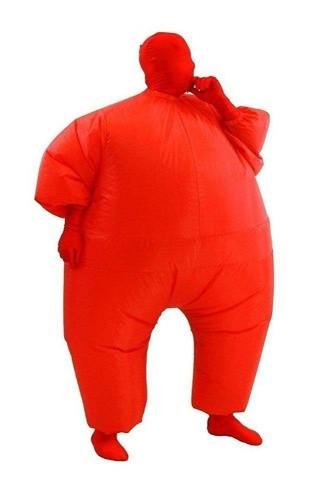 Erwachsene Fatsuit Inflatable Kostuem Jumpsuit Rot