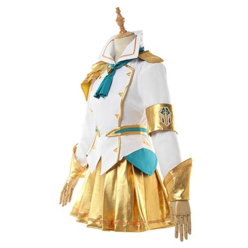 LOL LUX Luxanna Crownguard League of Legends Battle Academy Cosplay Kostüm